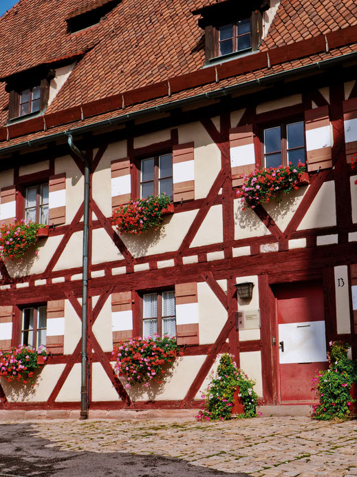 Typical German houses from the Middle Age