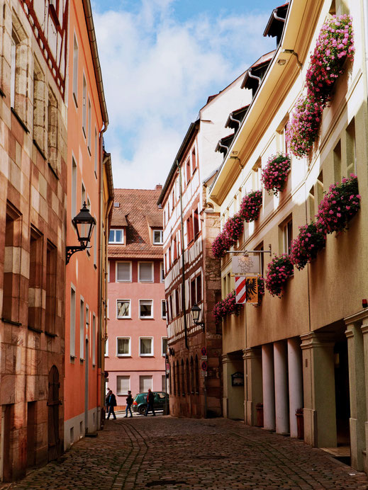 Narrow street of Bamberg