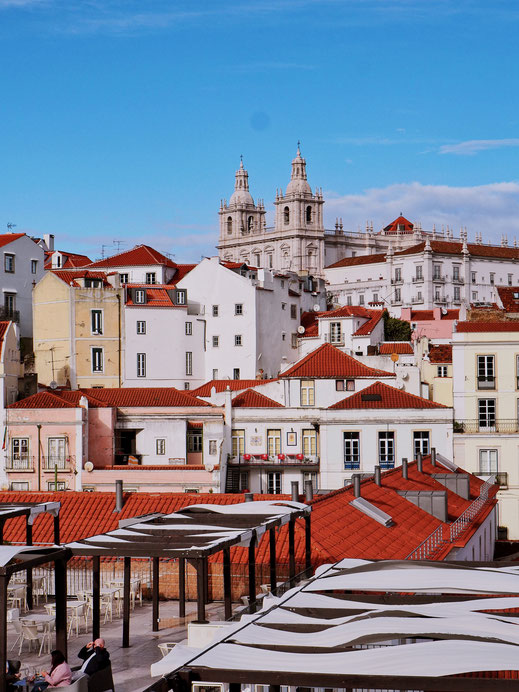 The orange rooftops of Alfama
