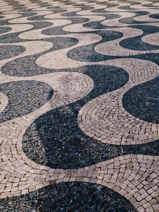 The pavement of Praça do Rossio