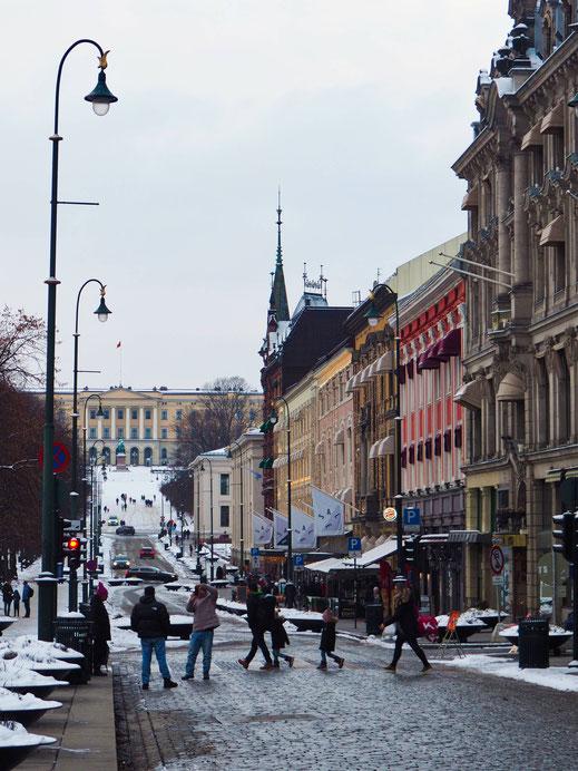 Nice perspective in Karl Johans Street
