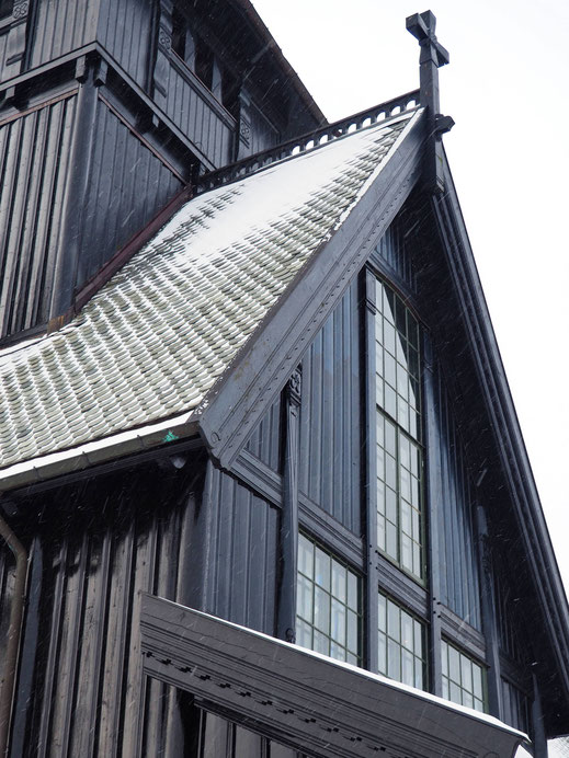 Details of this Norwegian style chapel