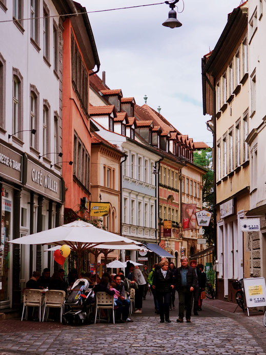 Strolling around the old town of Bamberg