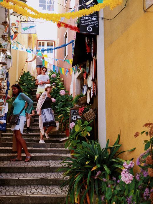 Cute little street of Sintra's old-town