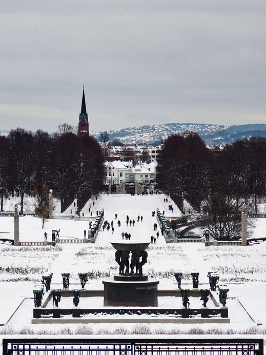 Monolitten, Vigeland Park, Oslo, Sculptures, View