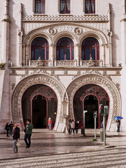 The beautiful architecture of Rossio Train Station