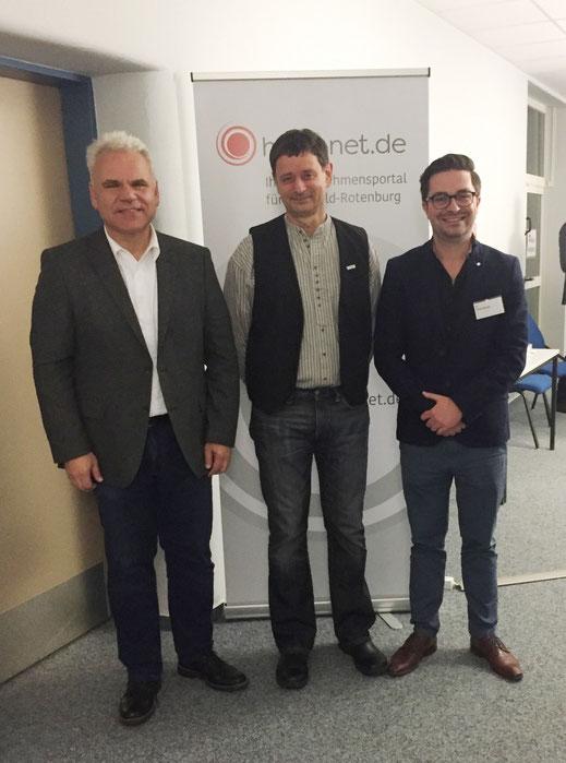Von Links: Bernd Rudolph, Ralf Czajkowski und Tobias Binder