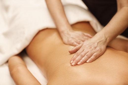 Rückenmassage nach Intouch Konzept