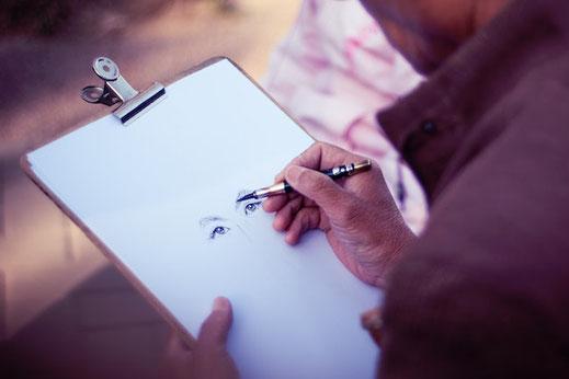 Live Zeichnen Illustrator für deine Feier