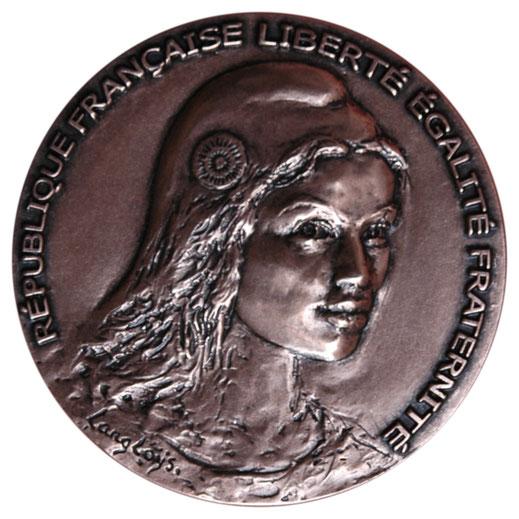 Avers de la médaille en bronze d'Identité du Sénat, sculpteur Langloÿs