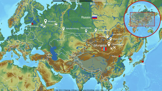 Route Trans-Siberian Express
