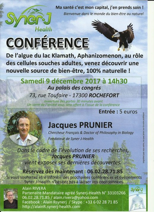 CONFERENCE JACQUES PRUNIER - ROCHEFORT PALAIS DES CONGRES - 9/12/2017