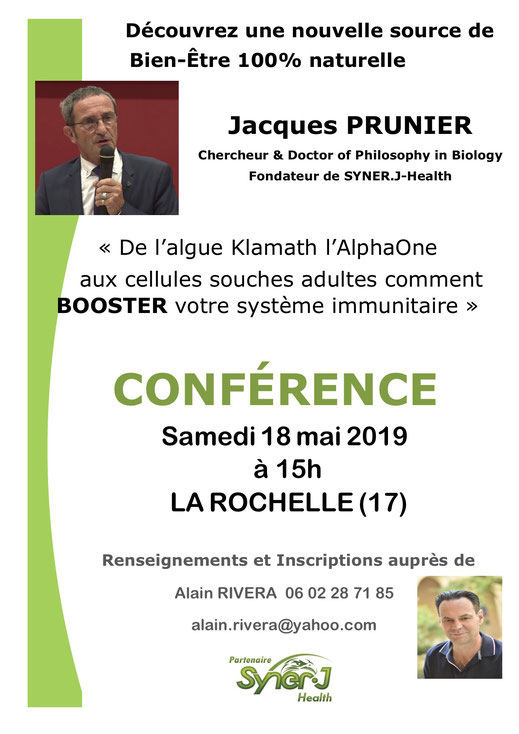 AFFICHE CONFERENCE JACQUES PRUNIER LA ROCHELLE  2019