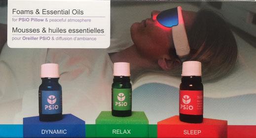 Mousses et huiles essentielles pour oreiller PSIO