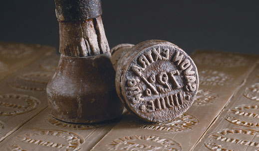 Tradition; Frankreich; Salon de Provence; Seifenherstellung; Marius Fabre; Stempel; Handarbeit