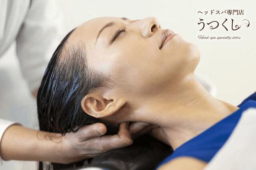 川崎市・武蔵小杉のヘッドスパ専門店行うヘッドスパの施術