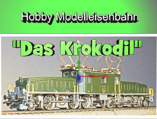 Lokomotive Modelleisenbahn Krokodil Stromlinien Loks Hobby Spaß Kindheitserinnerungen
