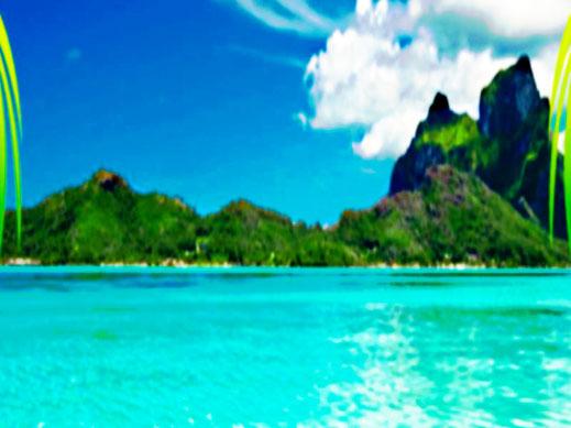 Dieses Bild zeigt eine traumhaft schöne Südesseinsel. Das Thema dazu lautet: Rückzugsort zur Erholung von Körper, Geist und Seele.