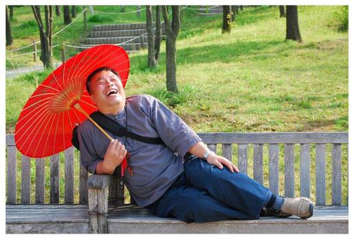 Ikigai. Der Mann hat gut lachen.
