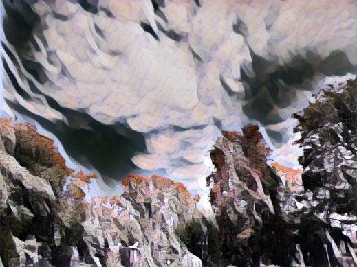 Ein Wolkenbild vermittelt den Eindruck von Schlechtwetterwolken