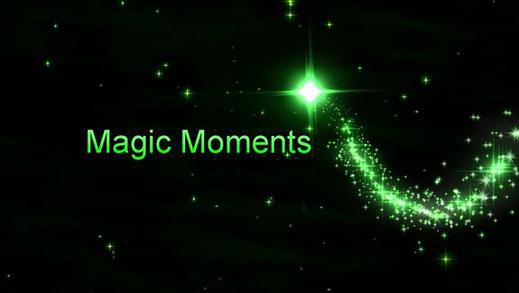 """Dieses Bild zeigt einen grünlich leuchtenden Stern. Er steht als Sinnbild für """"Magic Moments"""", zu deutsch """"Sternstunden""""."""