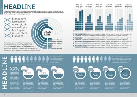 Spannendes Design für Statistiken – online und offline