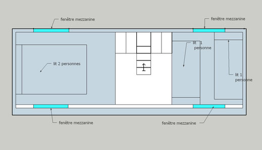 plan mezzanine tiny houses modèle texas- lestinyhousesdepetitjean.fr
