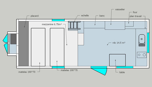 plan mezzanine tiny houses modèle prairie- lestinyhousesdepetitjean.fr