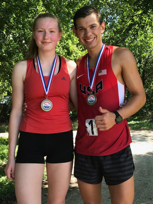 Viktoria Ahaus (GER) und Alex Guzman (USA) Sieger im Mixed Relay