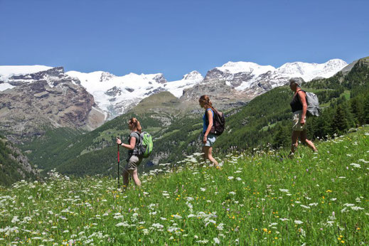 Die herrliche Bergwelt immer im Blick / Foto: Mandalatours