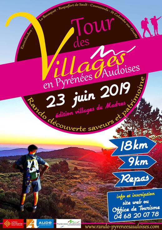 affiche Tour des Villages 2019 - Pyrénées Audoises