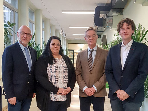 V.l.: Dr. Matthias Locher, Annika Gunst, Dr. Michael Montag, Tobias Langer