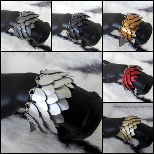 bracelet cotte de maille écailles paraphernalia création