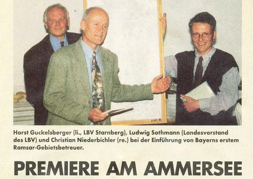 Das Pilotprojekt Gebietsbetreuung am Ammersee © Vogelschutz 1997
