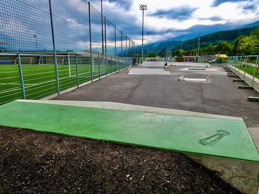 overview SANE Skate Plaza Rum, Skatepark Rum, Tirol, Österreich