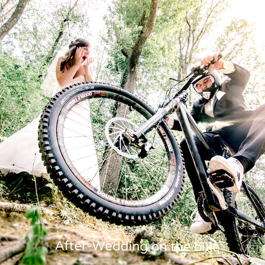 Hochzeitsfotograf Heilbronn Johanna Kuttner Wedding Photograph Brautpaar Hochzeitsfotos Braut Bräutigam Shooting After-Wedding Biker Heilbronn