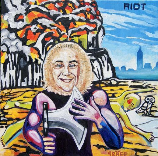"""Matthias Laurenz Gräff, """"Riot, Rock City (Allegorie auf H. C. Strache und das gleichnamige Musikalbum"""""""