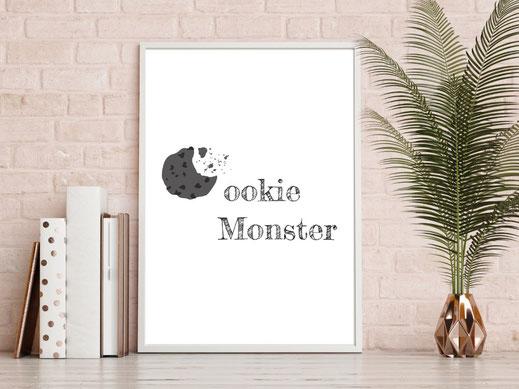 Typografie Poster, Typografie Print, Lifestyle, Cookie Monster
