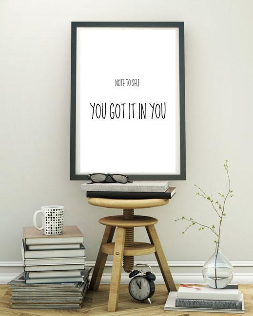 Wandbild Motivation, Print