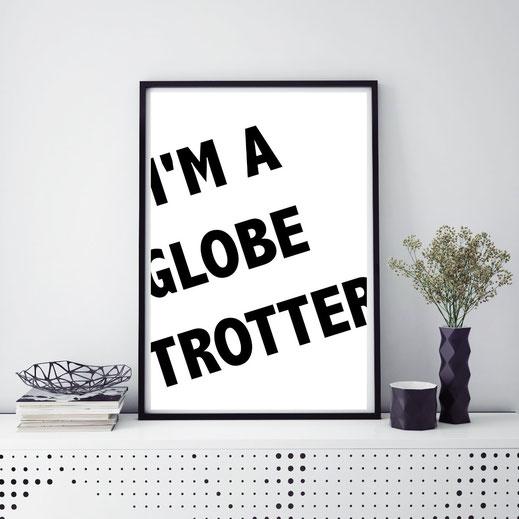 Typografie Reisen, Poster - Globetrotter
