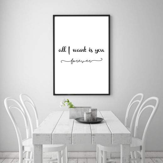 Typografie Print, Liebe