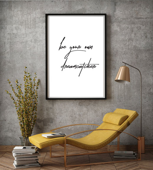 Typografie Poster, Typografie Wandbild, Print, Inspiration