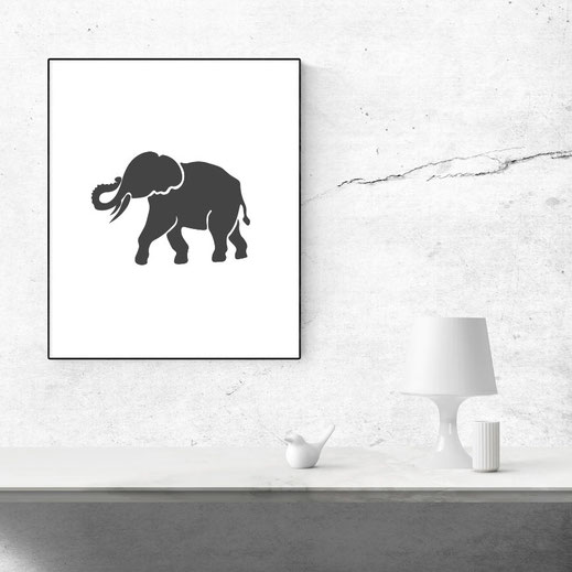 Illustration Elephant, Print
