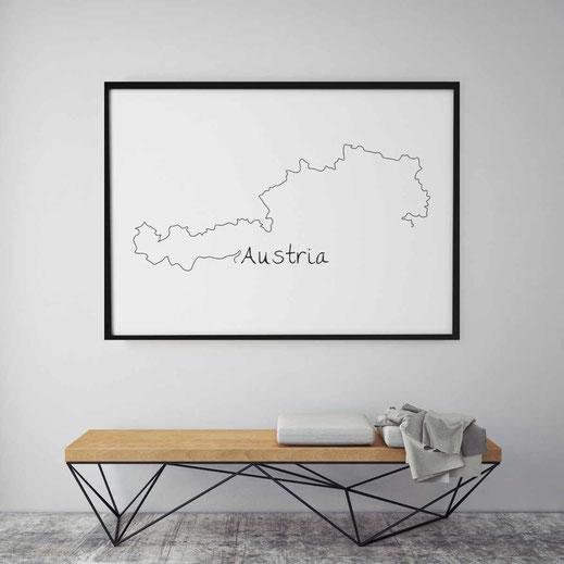 Typografie Poster, Typografie Print, Lifestyle, Austria