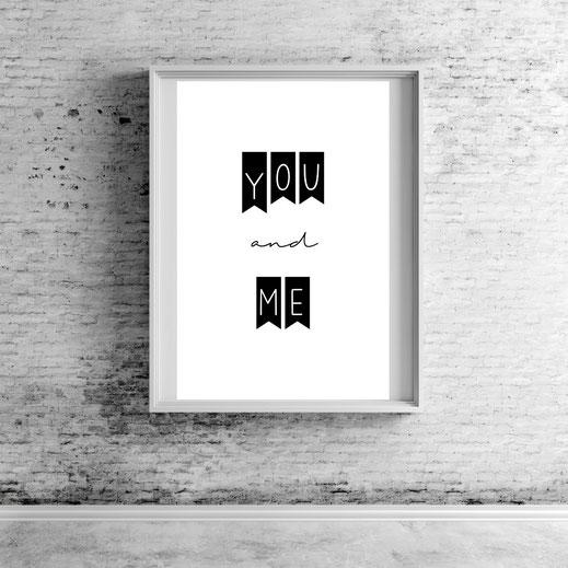 Typografie Print, Typografie Poster, Geschenkidee
