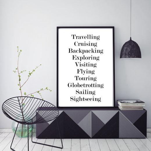 Typografie Reisen, Print -  Travelling
