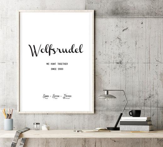 Typografie Poster, Personalisierte Friendship Prints | Personalisierbare Bilder