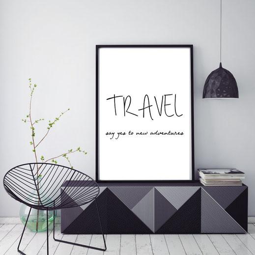 Typografie reisen, poster - travel