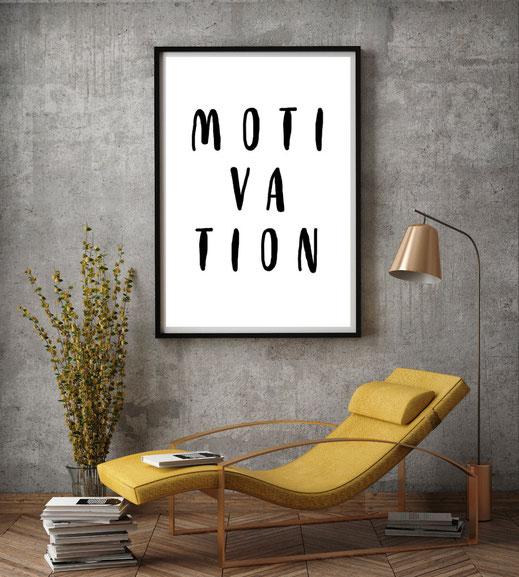 Motivation, Typografie Poster