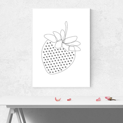 Illustration Strawberry, Print